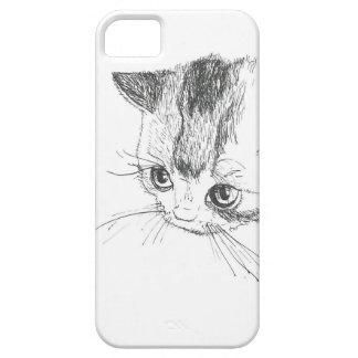 iPhone/iPad Case Cat Drawing