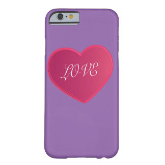 IPHONE Love simple heart 2015 love pink color Barely There iPhone 6 Case