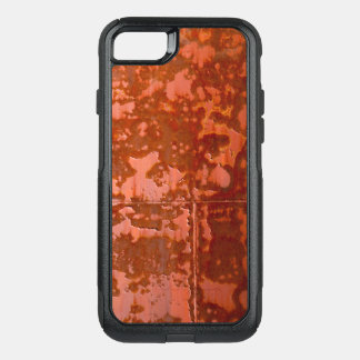 iPhone Otterbox case rustymetal red