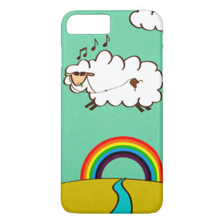 iPhone Plus Barely Case Cool Rainbow Flying Sheep