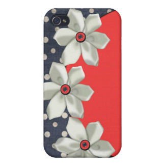 iphone pop art design with flowers iPhone 4/4S case