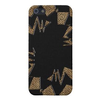 iphone pop art design with leopard iPhone 5 case