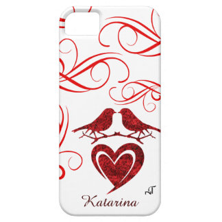iPhone SE/5/5S Case - Heart with Red Roses