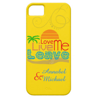 iPhone SE/5/5S Case - Valentine Sea Sun Love Beach