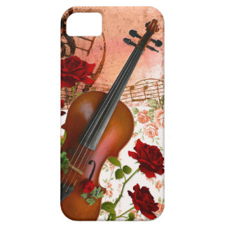 iPhone SE + iPhone5/5S case violin rose violin