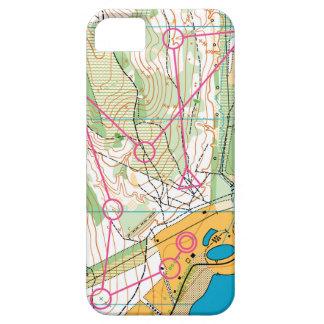 iPhone SE + iPhone 5/5S case - orienteering map