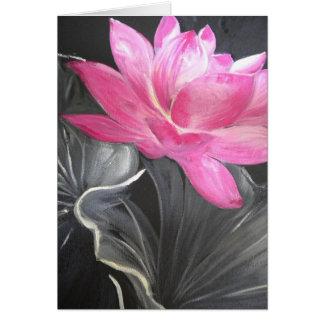 iphone skin. pink lotus design greeting card