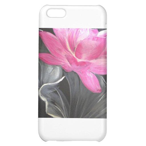 iphone skin. pink lotus design iPhone 5C cover