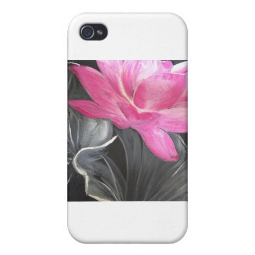 iphone skin. pink lotus design cover for iPhone 4