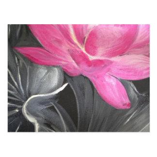 iphone skin. pink lotus design postcard