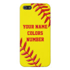 iPhone Softball Cases Personalised Text and