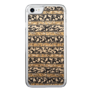 iPhone: Tribal Surf Beach Pattern. Maple Wood Carved iPhone 8/7 Case