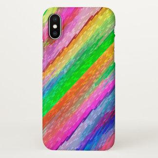 iPhone X Case Colorful digital art splashing G479
