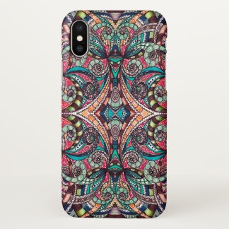 iPhone X Case Drawing Floral