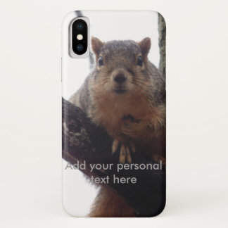 Iphone X squirrel looking at you phone case