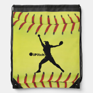 iPitch Fastpitch Softball Drawstring Bag