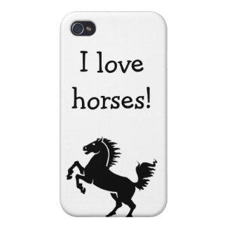 iPod iPad Case I love horses iPhone 4 Cases