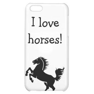 iPod iPad Case I love horses iPhone 5C Covers