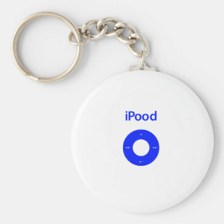 Ipod spoof ipood basic round button key ring