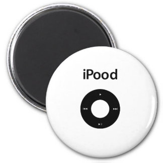 Ipod Spoof Ipood Black 6 Cm Round Magnet