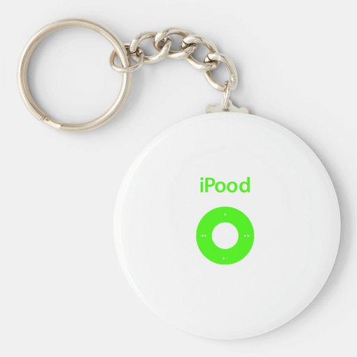 Ipod spoof Ipood green Keychains