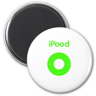 Ipod spoof Ipood green 6 Cm Round Magnet