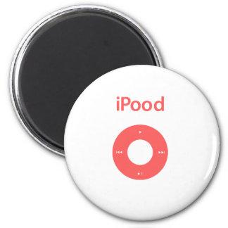 Ipod spoof Ipood pink 6 Cm Round Magnet