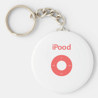 Ipod spoof Ipood pink Basic Round Button Key Ring