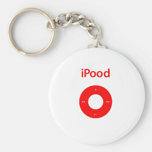 Ipod spoof Ipood red Key Chain