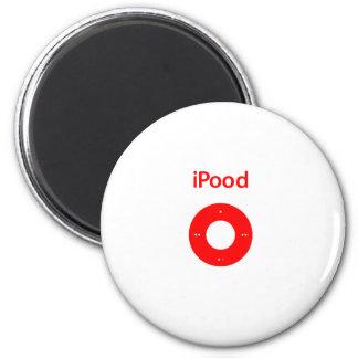 Ipod spoof Ipood red Fridge Magnets