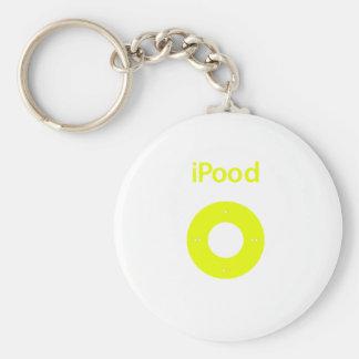 Ipod spoof Ipood yellow Key Chain