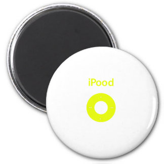 Ipod spoof Ipood yellow Refrigerator Magnets