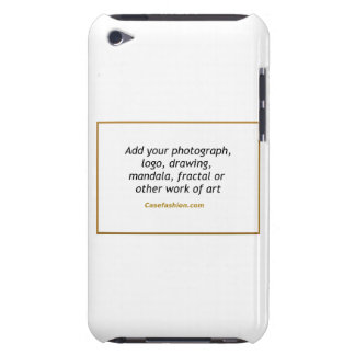 iPod Touch 4G Case Vertical w Your Design Barely There iPod Covers