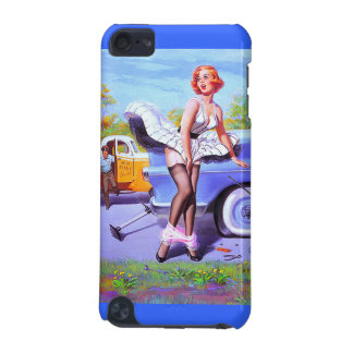 iPod Touch Blue Vintage Pin up Girl Retro iPod Touch 5G Cases