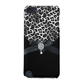 iPod Touch Leopard Black White Bow Jewel Images iPod Touch (5th Generation) Cover