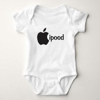 ipood apple inspired cute baby onsie, unisex baby bodysuit