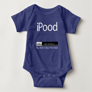 iPood You Wish it Was This Easy Blue Baby Bodysuit