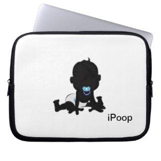 iPoop baby silhouette Computer Sleeves