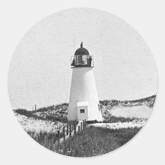 Ipswich Range Lighthouse 2 Round Sticker