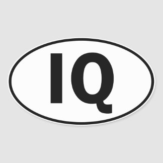 IQ Oval Identity Sign Stickers