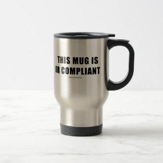 IR Compilant Stainless Steel Travel Mug