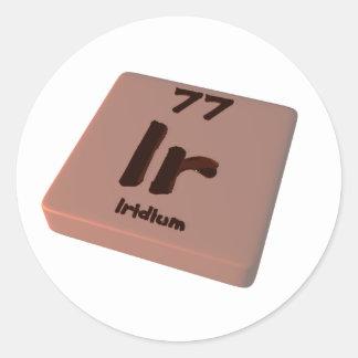 Ir Iridium Round Sticker