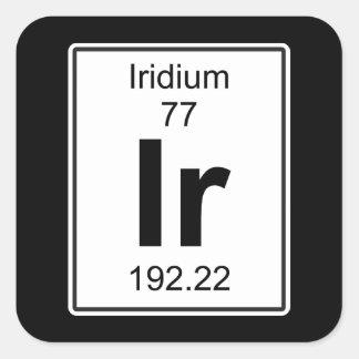 Ir - Iridium Square Sticker