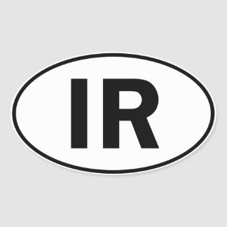 IR Oval Identity Sign Oval Sticker