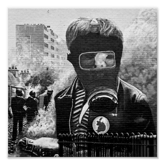 Ira Mural Derry Poster Zazzle Co Uk