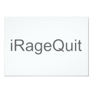 iRageQuit Rage Quitting Gamer 9 Cm X 13 Cm Invitation Card