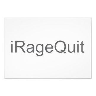 iRageQuit Rage Quitting Gamer Custom Invitation