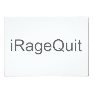 "iRageQuit Rage Quitting Gamer 3.5"" X 5"" Invitation Card"