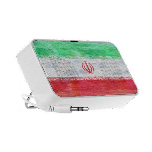 Iran distressed Iranian  flag Travel Speaker