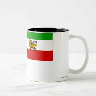 Iran Flag (1925-1979) Two-Tone Coffee Mug